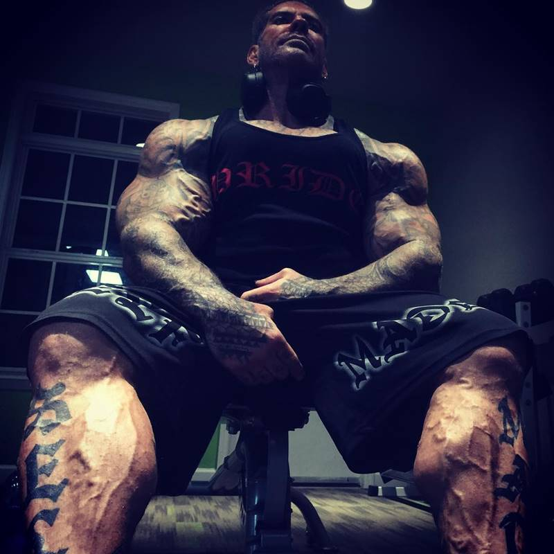 American bodybuilder Rich Piana
