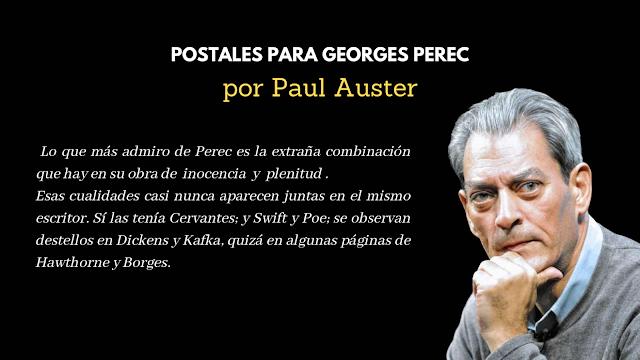 Postales para Georges Perec por Paul Auster