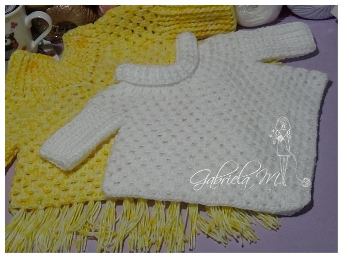 Delicadezas en crochet Gabriela: Poncho con mangas paso a paso