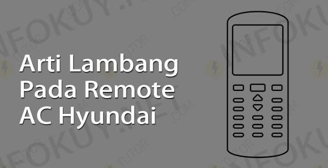 arti lambang pada remote ac hyundai