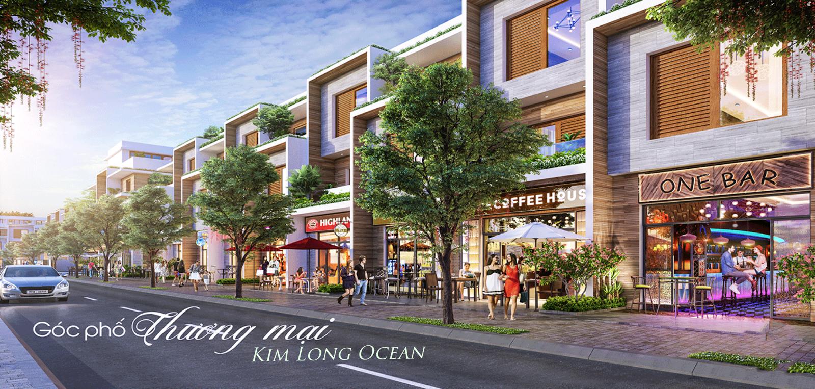 Góc phố thương mại Kim Long Ocean