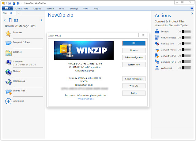Screenshot WinZip Pro 24.0 Build 13618 Full Version
