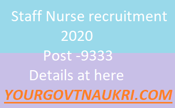 Staff Nurse recruitment 2020