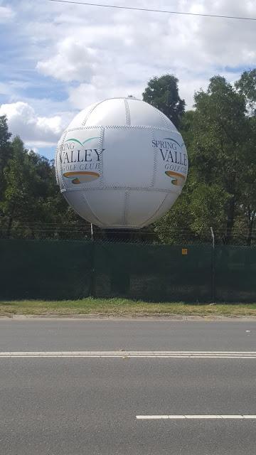 Clayton South   BIG Golf Ball - Spring Valley Golf Course