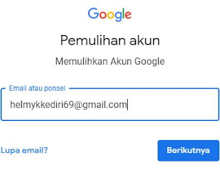 akun gmail yang lupa password