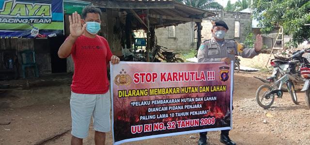 Bripka Robiansyah Sosialisasikan Karhutla Cegah bencana kebakaran