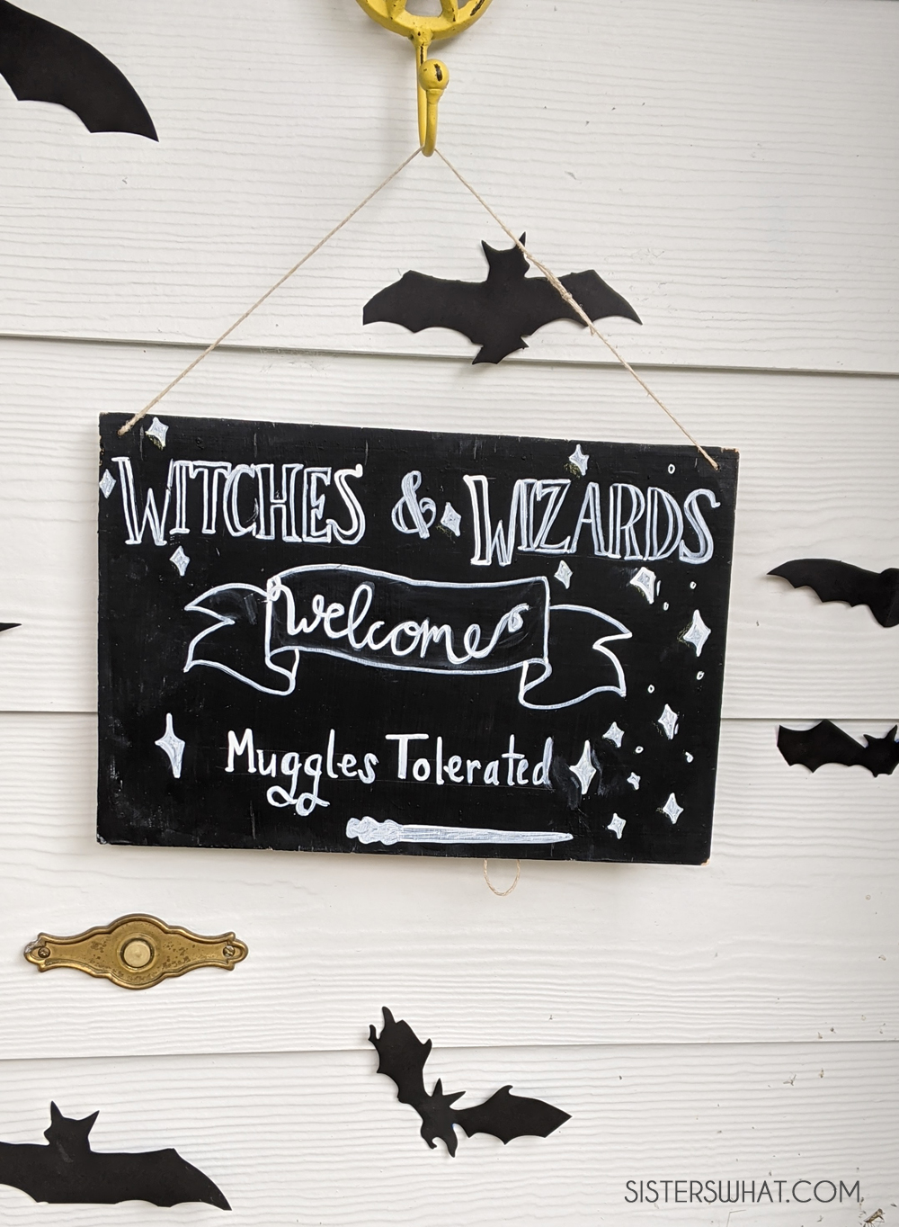 witches and wizards welcome muggle tolerated sign