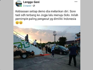 Istana Mau Dikepung Demo, Jokowi Malah Pulang Kampung ke Solo, Warganet Kesal