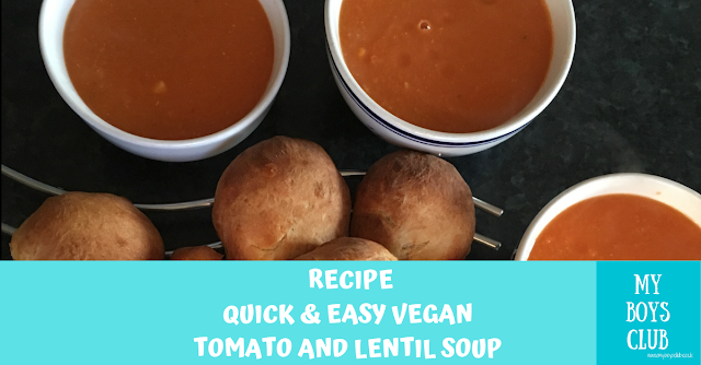 Quick & Easy Tomato & Lentil Soup (Ve)