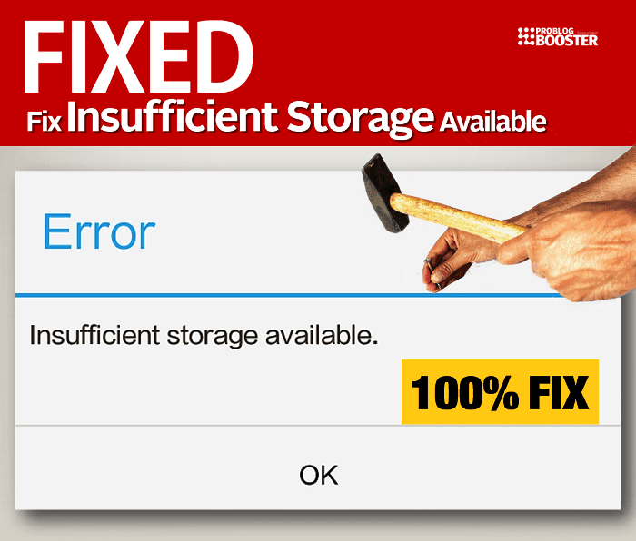 Fix 'Insufficient Storage Available​‌' Error in Android