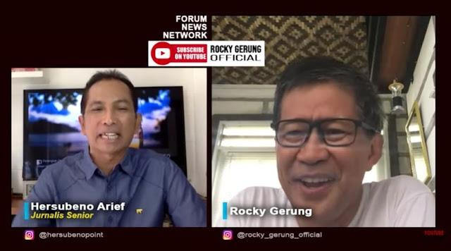 Novel Baswedan Dipolisikan, Rocky Gerung: Jokowi Memetakan Sisa Oposisi