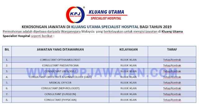 Kluang Utama Specialist Hospital