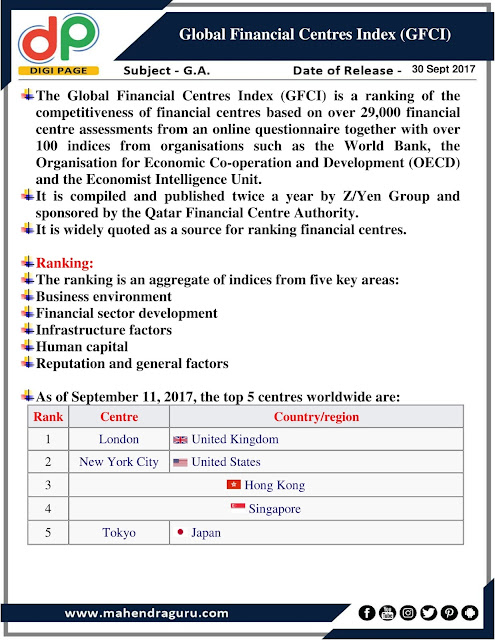 DP | IBPS RRB Mains Special :GFCI  | 30 - Sep - 2017