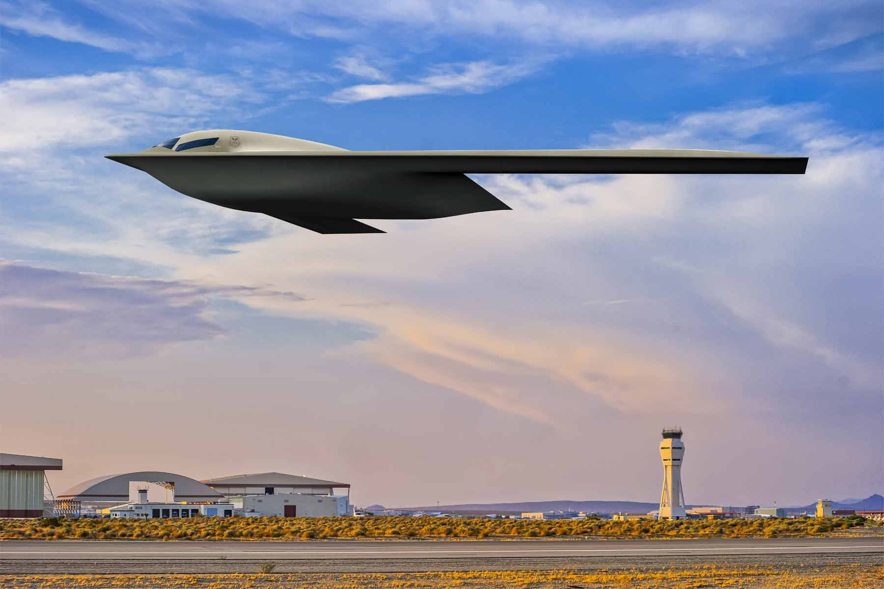Air Force Releases New Peek Of Stealthy B-21 Raider
