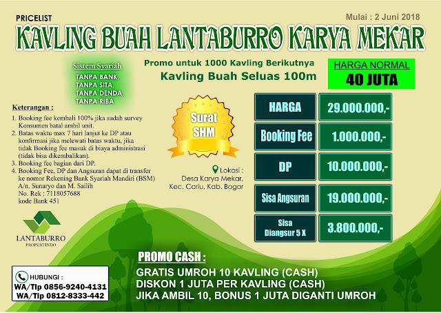 Tanah-Dijual-Murah-Kavling-Buah-Lantaburro-Karyamekar-Cariu-Kabupaten-Bogor