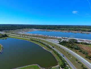 Aria Venice FL new home sites looking south and west of Jacaranda