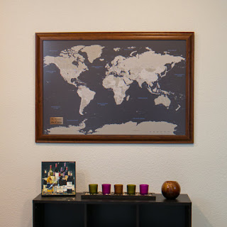 push pin travel map from etsy