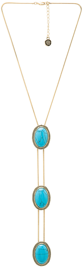 HOUSE OF HARLOW 1960 TANTA 3 TIER BOLO PENDANT