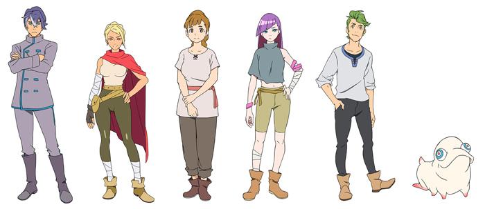 Deca-Dence anime - personajes