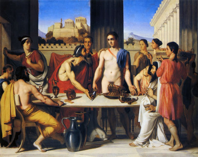 Hippolyte Flandrin (1806-1864): Theseus Recognized by his Father (1832), École nationale supérieure des Beaux-Arts, Paris. Wikimedia Commons.