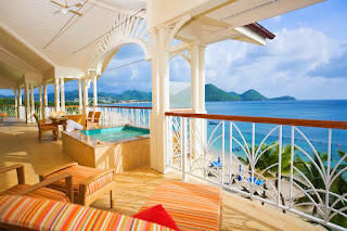 Grand balcony at The Landings Resort and Spa, St, Lucia, Caribbean, Saint Lucia