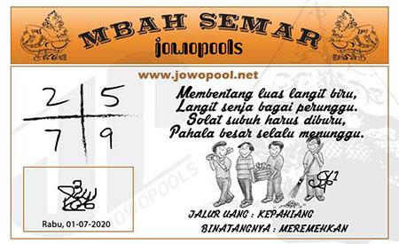 Mbah Semar Rabu 01 Juli 2020