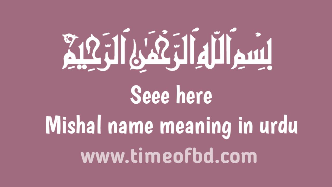 Mishal name meaning in urdu, مشال نام کا مطلب اردو میں ہے