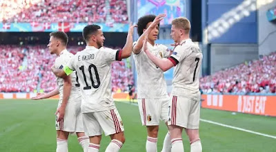 ملخص واهداف مباراة بلجيكا والدنمارك (2-1) كأس أمم أوروبا