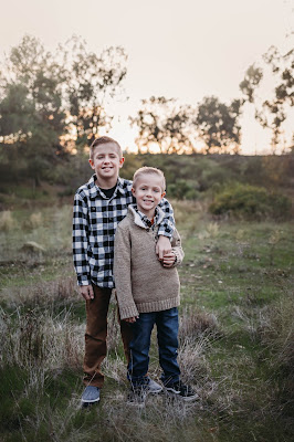 Brothers portrait Holiday family photos in San Diego CA by Morning Owl Fine Art Photography.