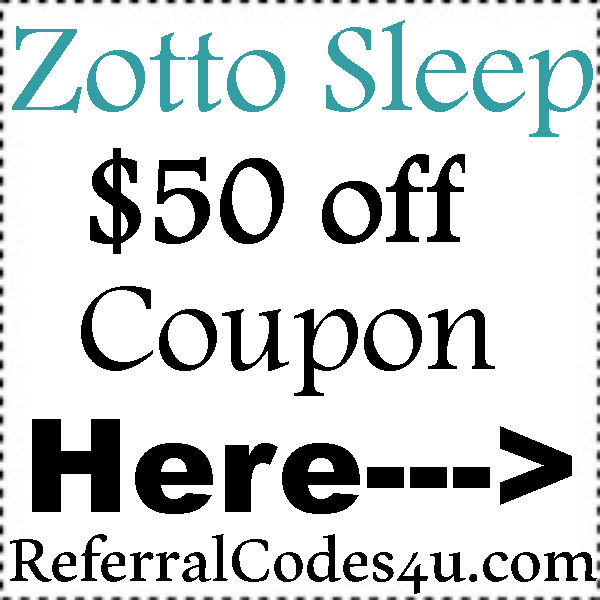 $50 Zotto Mattress Discount Code March, April, May, June, July, August 2017 ZottoSleep Coupon