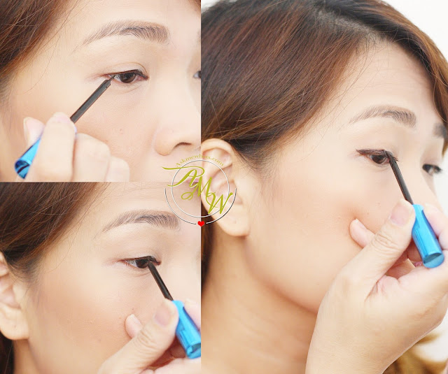 a photo on how to apply Measurable Difference Lash Amplifying Liquid Eyeliner espresso