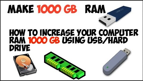 How To Increase Your Computer RAM 16GB Using Pendrive/Hard