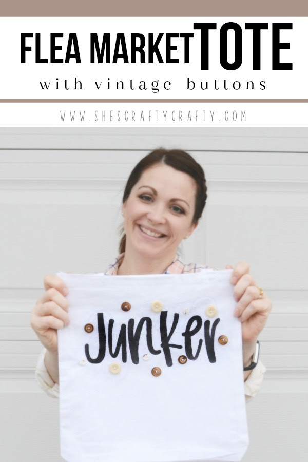 How to make a Flea Market tote with vintage buttons