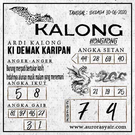 Prediksi Syair Kalong Togel HK Malam Ini 30 Juni 2020