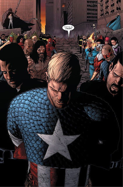 Captain America arrested in the last issue of Civil War