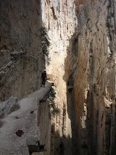 Caminito del Rey Alora Malaga Como era antes del nuevo Camino