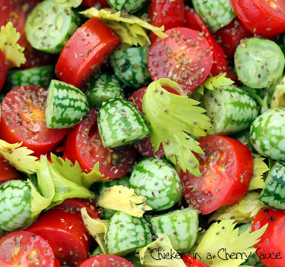 Cucamelon Bloody Mary Salad