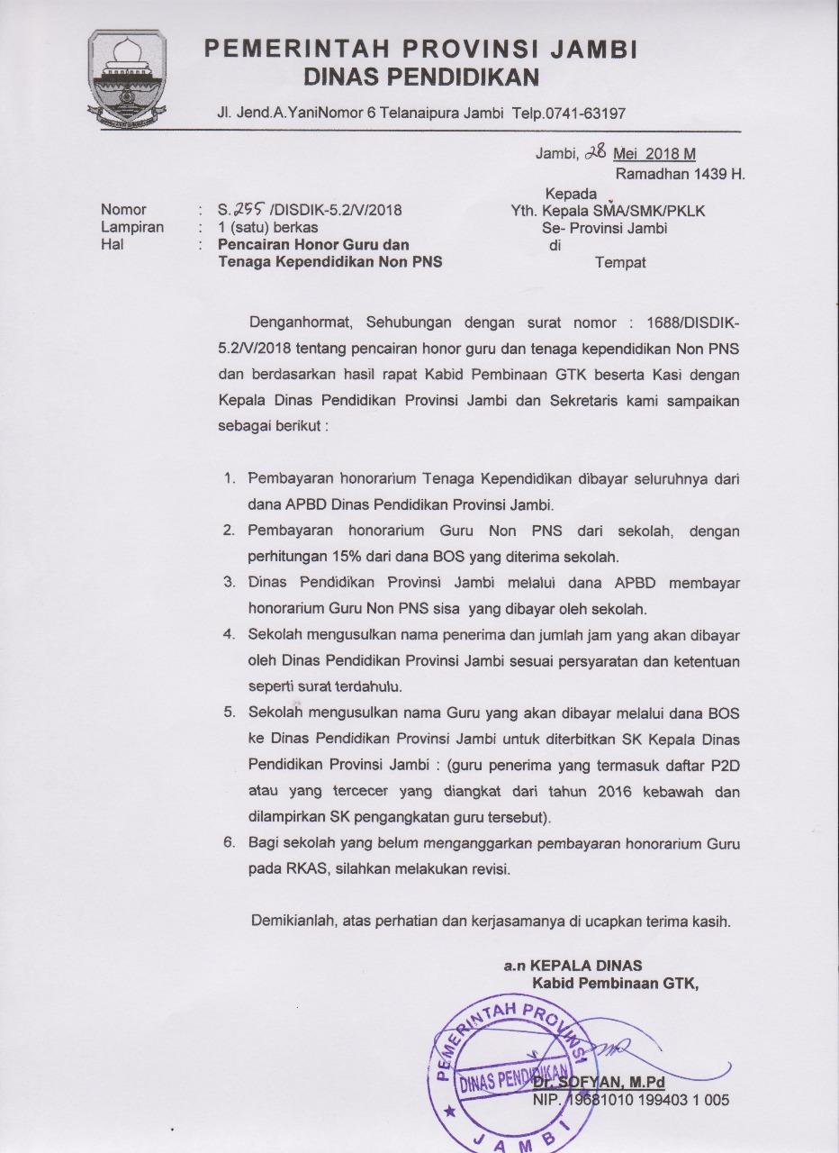 Kepala Sma Protes Surat Edaran Dinas Pendidikan Provinsi