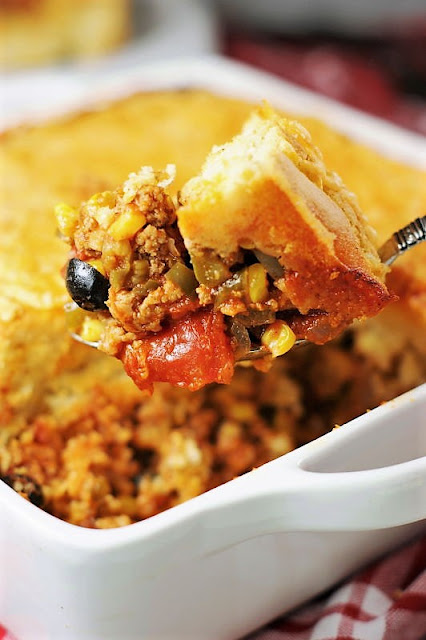 40+ Food & Drink Recipes for Cinco de Mayo Fun - Tamale Pie Casserole Image