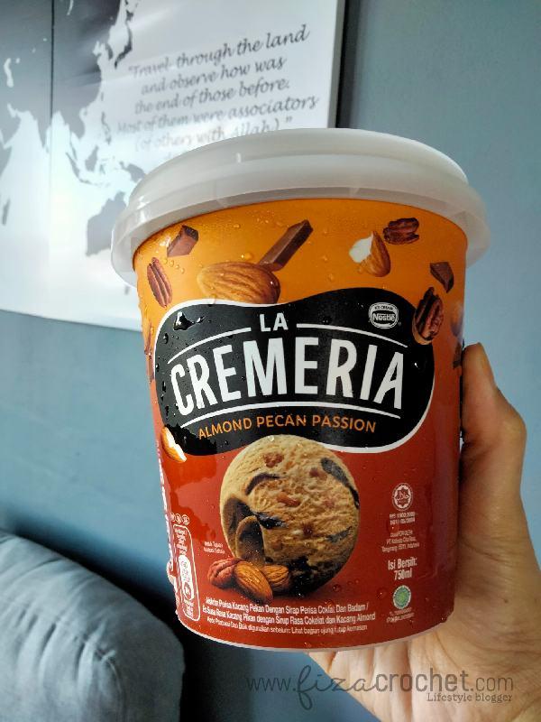 Reviews Aiskrim Nestle La Cremeria Almond Pecan Passion