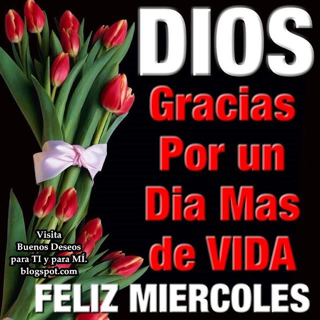 DIOS Gracias por un día más de Vida FELIZ MIÉRCOLES!