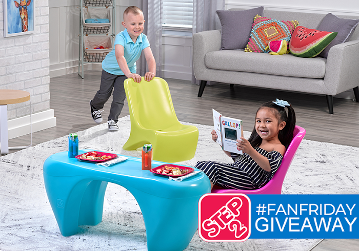 Step2 Junior Chic 3-Piece Furniture Set Giveaway  ( Worth Over : +$75)