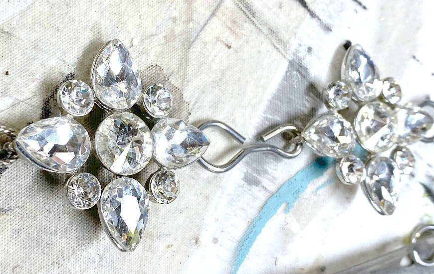 Large diamond jewelry piece