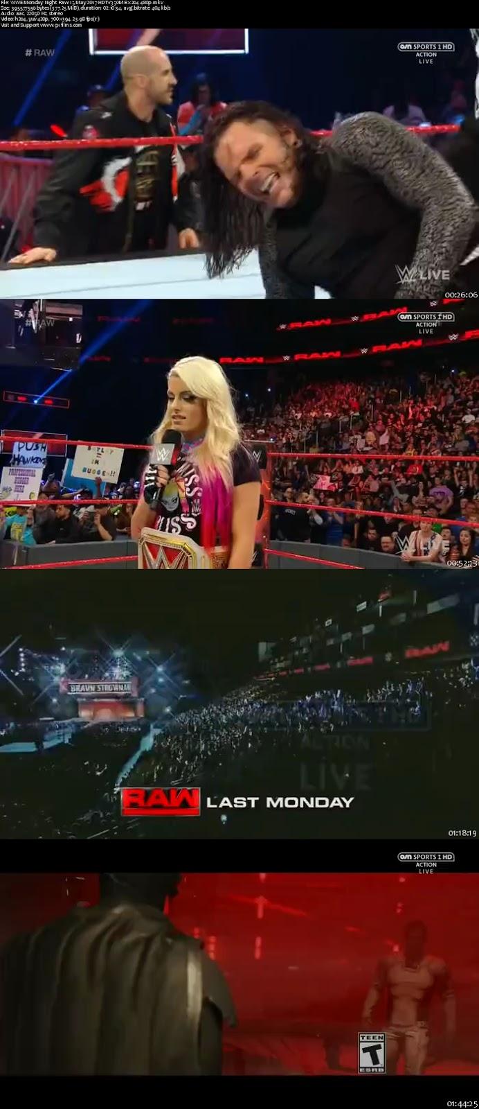 WWE Monday Night Raw 15 May 2017 HDTV 480p