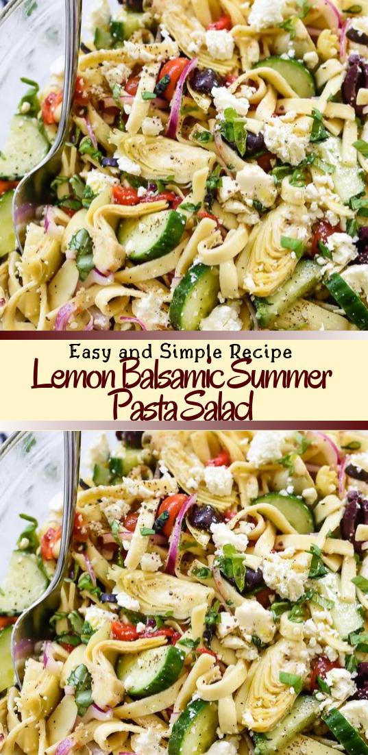 Lemon Balsamic Summer Pasta Salad #vegan #vegetarian #soup #breakfast #lunch