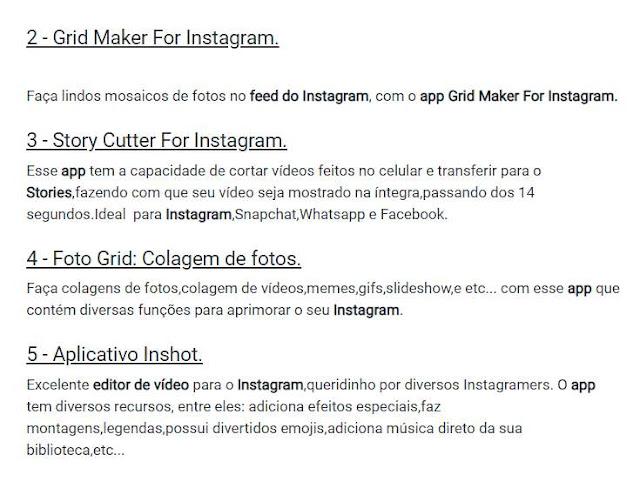 Lista de Apps para Instagram