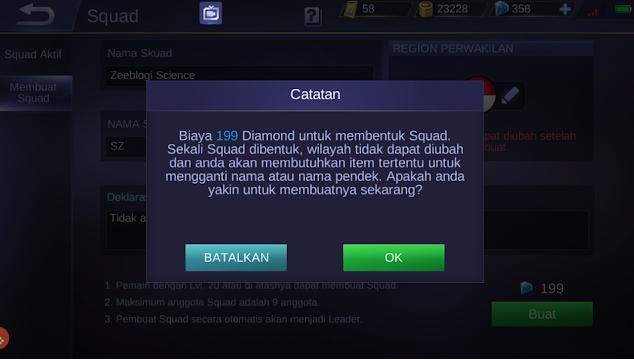 Click OK Create Squad