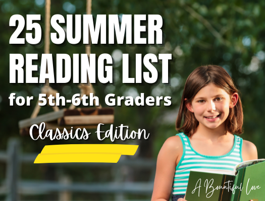 Summer Reading List for 6th Graders