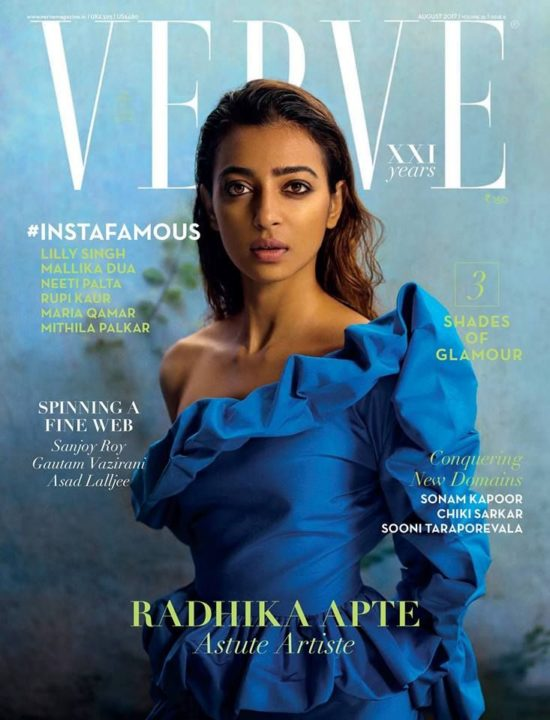 Radhika Apte On The Cover of Verve Magazine India August 2017