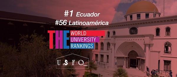 Times Higher Education posiciona a la USFQ como la mejor universidad del Ecuador